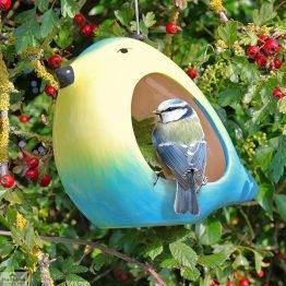 Ceramic Blue Tit Bird Feeder_1