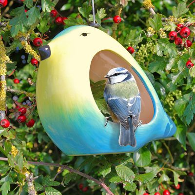 Ceramic Blue Tit Bird Feeder_1