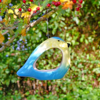 Ceramic Blue Tit Bird Feeder_3