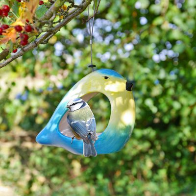 Ceramic Blue Tit Bird Feeder_2