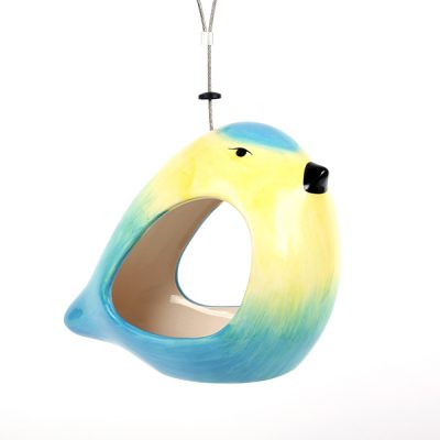 Ceramic Blue Tit Bird Feeder_4