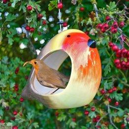 Ceramic Robin Bird Feeder_1