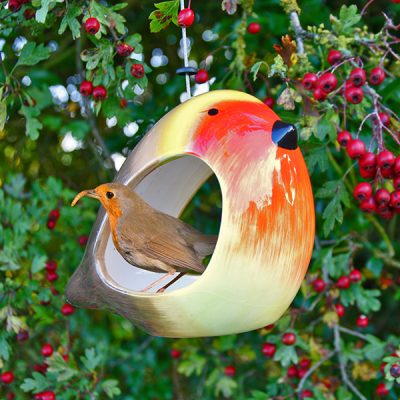 Ceramic Robin Bird Feeder_1