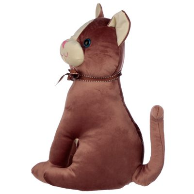 Sitting Brown Cat Doorstop_3