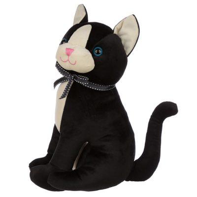 Sitting Black Cat Doorstop_3