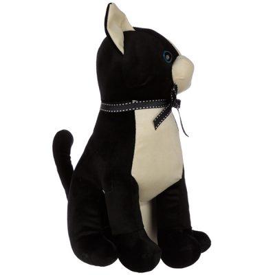 Sitting Black Cat Doorstop_1