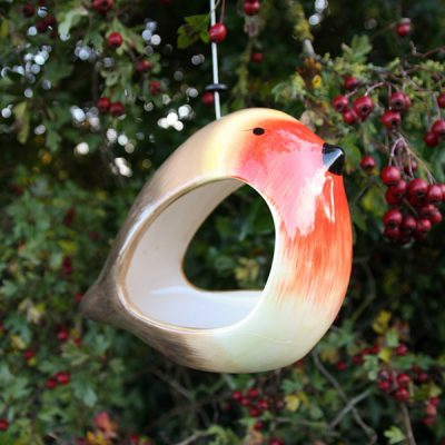 Ceramic Robin Bird Feeder_2