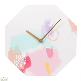 Octagonal Shaped Colourful Wall Clock