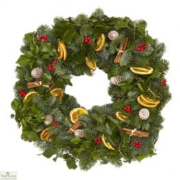 Traditional Sloane Real Christmas Wreath 50cm