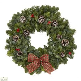 Traditional TarTan Real Christmas Wreath 40cm