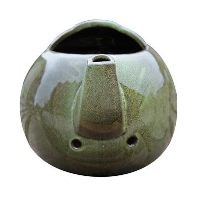 Green Ceramic Teapot Bird Nester_6