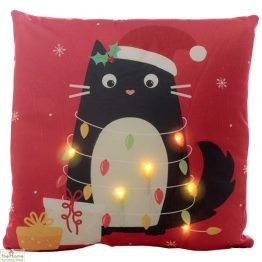 Cat LED Light Christmas Cushion