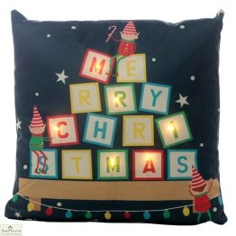 Elf LED Light Christmas Cushion