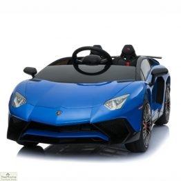 Lamborghini Aventador SV 12V Ride On Car - Blue