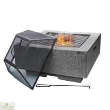 Cubo Square MGO Firepit Dark Grey