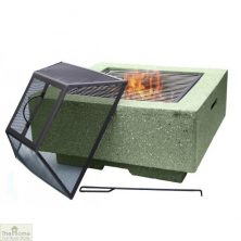 Cubo Square MGO Firepit Green