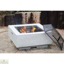Cubo Square MGO Firepit Grey