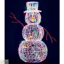 LED MulticolouredChristmas Snowman 90cm