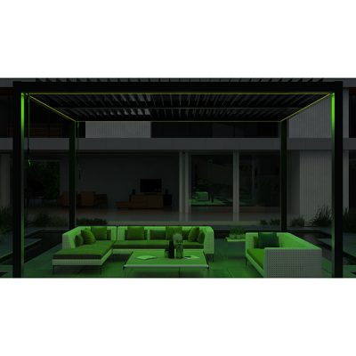 Casamoré Aluminium Pergola with LED Lighting_4