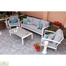 Casamoré St Lucia 3 Seater Sofa Set White