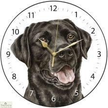 Black Labrador Dog Print Wall Clock