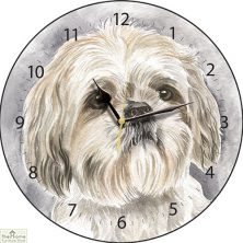 Shih Tzu Dog Print Wall Clock