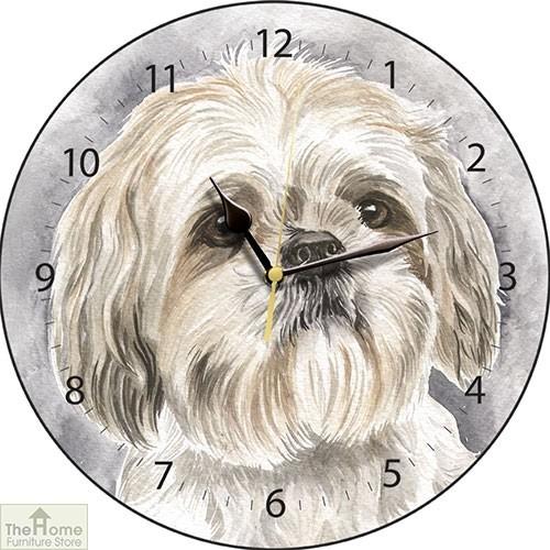Shih Tzu Dog Print Wall Clock