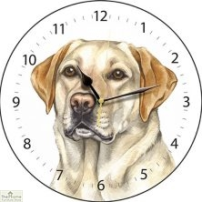Golden Labrador Dog Print Wall Clock