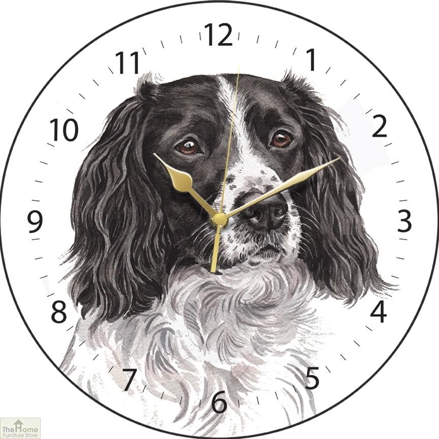 Springer Spaniel Dog Print Wall Clock