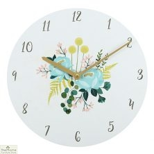 Botanical Flower Round Wall Clock