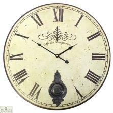 Large Vintage Pendulum Wall Clock