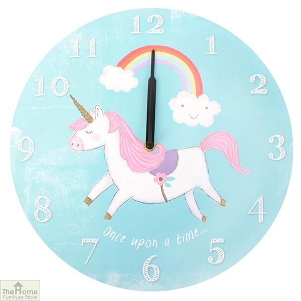Unicorn Round Wall Clock