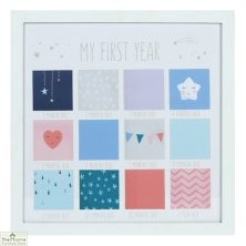 Baby's First Year Square Photo Frame