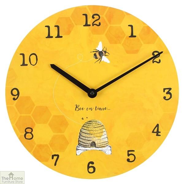 Bee Yellow Wall Clock