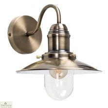 Fishermans Wall Light Lantern Brass