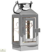 30 LED Light Lantern Silver