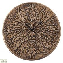 Terracotta Green Man Wall Clock