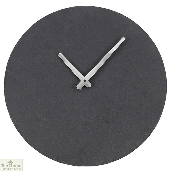 Slate Grey Round Wall Clock