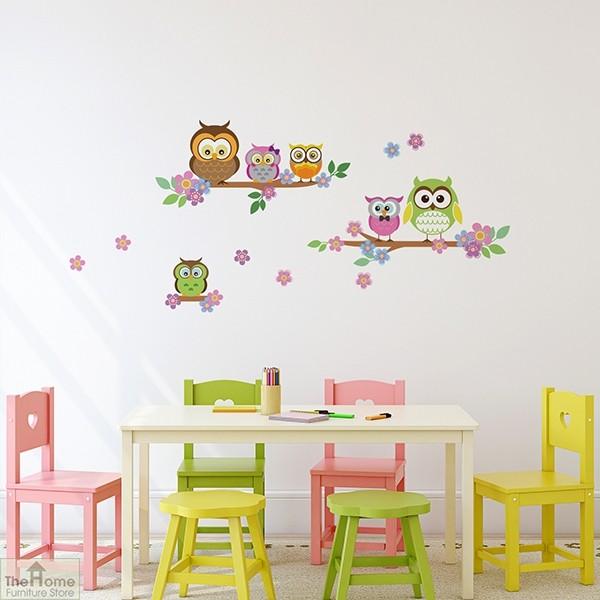 Owl Flower Tree Wall Sticker