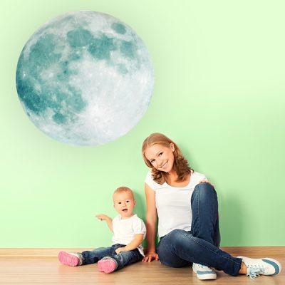 Large Glowing Moon Wall Sticker_1