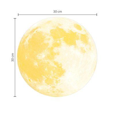 Small Glowing Moon Wall Sticker_1