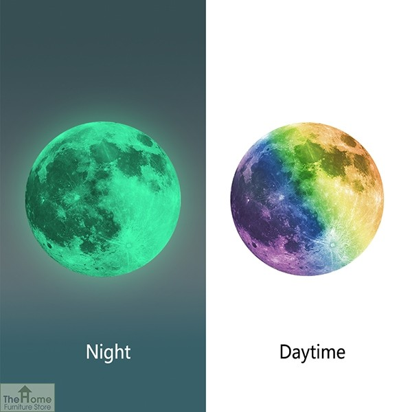 Colourful Glowing Moon Wall Sticker