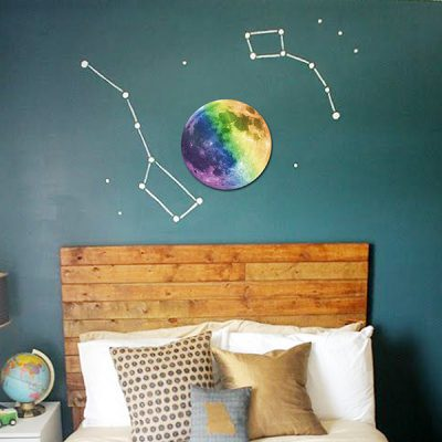 Colourful Glowing Moon Wall Sticker_1