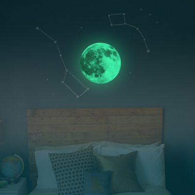 Colourful Glowing Moon Wall Sticker_2
