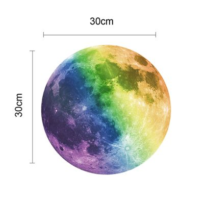Colourful Glowing Moon Wall Sticker_3
