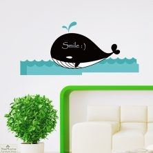 Whale Chalkboard Wall Sticker