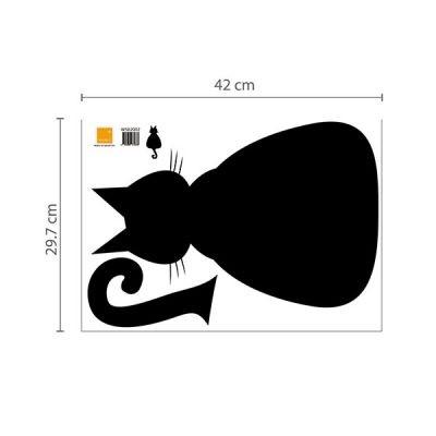 Cat Chalkboard Wall Sticker_3