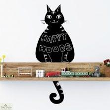 Cat Chalkboard Wall Sticker