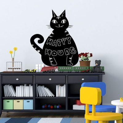 Cat Chalkboard Wall Sticker_1