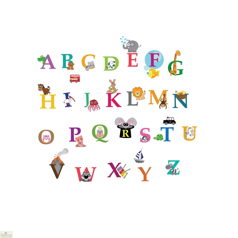 Zoo Animal Alphabet Wall Sticker